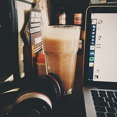 Photo of This shake is nearly as tall as my laptop!