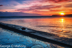 Tramore Sunset (George O Mahony) Tags: beach ireland tramore waterford sunset sand texture