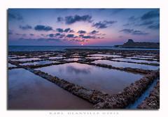 Sunrise at Xwejni Bay, GOZO (glank27) Tags: sky seascape clouds sunrise canon landscape eos bay salt malta efs pans gozo f3556 70d xwejni lbajda 1585mm ilqolla