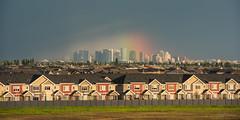 The Rainbow [Explored] (WherezJeff) Tags: ca urban canada storm rainbow cityscape edmonton suburban alberta yeg