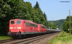 151 034-6 und 151 043-7 DB Cargo (vsoe) Tags: railroad train germany deutschland engine eisenbahn railway nrw bahn rhein nordrheinwestfalen rhinevalley zge rheinstrecke