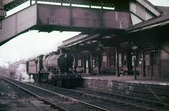 GW Mogul 6361, Aberdare, February 1962. (Crewcastrian) Tags: br transport trains steam railways mogul greatwesternrailway aberdare 6361 43xx