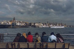 Enjoying the view (Syahrel Azha Hashim) Tags: ocean city travel bridge light vacation people holiday detail building beautiful architecture clouds 35mm buildings turkey prime colorful cityscape dof view getaway sony details group windy naturallight istanbul handheld shallow simple dramaticsky enjoyingtheview galatatower a7ii colorimage sonya7 syahrel ilce7m2