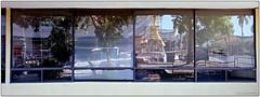 4 Windows2 (mueflickr) Tags: urban reflection building film fuji transparency 100 rvp hasselbladxpanii 90mmf4 borderfx