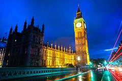 IT'S TIME (Rober1000x) Tags: london londres europa europe 2016 summer verano bigben tower rain night lights bridge clock time uk england
