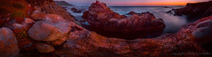 Red Rocks III (philipleemiller) Tags: california sunset seascape nature landscape big twilight waves redrocks garrapata pacificcoast d800 longexposures pinkhues