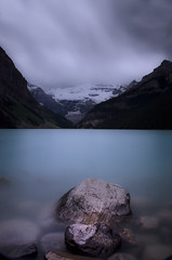 Lake Louise (larz_73) Tags: longexposure canada nikon le alberta banff lakelouise neutraldensityfilter nd110 d7000