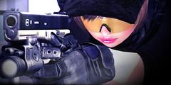 """No Hesitation"" (Eripom^^) Tags: glock secondlife sac ssoc pistol handgun polymar diehard gun weapon combat battle military cosplay costume g17 g18 tactical magpul dynamics tontastic sisu d1mtg peq14 urban pmc"