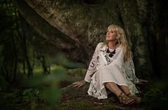 Els and the old tree (xipevideo) Tags: portrait woman dark forest strobist godox ad600 nikon d600 50mm flash dof model tree
