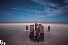 Trimingham 3 (davemoly17) Tags: davidmolyneuxphotography norfolk trimingham coast beach sea seaside groynes blue water waves summer sunny canon eos 1100d sigma wideangle