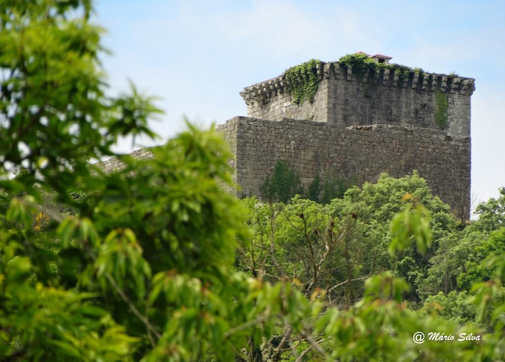 Águas Frias (Chaves) - ... castelo de Monforte de Rio Livre (monumento nacional) ... entre o arvoredo ...