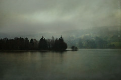 Lake Effect (sbox) Tags: uk trees england sky mist lake water fog textures cumbria coniston lakeconiston