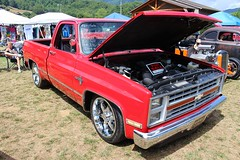 Carshow - Maggie Valley, NC (osubuckialum) Tags: c10nationals 1986 86 chevy chevrolet silverado 10 red pickup truck maggievalley nc northcarolina 2016 carshow show