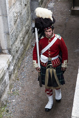 Re-enactor who was dressed as a private in the 78th Highlanders, Citadel, Halifax (Jim 03) Tags: star shaped fortress citadel fort george 1856 smoothbore weaponry rifled jim jim03 jhoffman jimhoffman wwwjimahoffmancom wwwflickrcomphotosjhoffman2013 reenactor halifax nova scotia historical