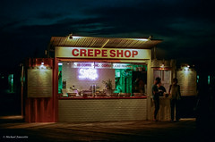 crepe shop (mfauscette) Tags: 35mm fsc ishootfilm istillshootfilm kodak kodakportra800 nikon nikonf6 analog asburypark boardwalk film filmisnotdead filmshooterscollective night street