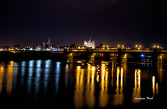 Medway at night (G Bond) Tags: river medway lights reflection castle rochester glow bridge night pov hdr
