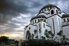 Dramatic evening sky over Sv.Sava, Belgrade (Andrey Sulitskiy) Tags: serbia belgrade