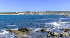 L'Escala - Panoramica (rossendgricasas) Tags: landscape sea beach blue colors catalonia girona costabrava lescala