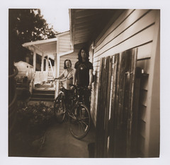Dabao and his mom 7, Corvallis 2016 (Sara J. Lynch) Tags: sara j lynch dabao mom corvallis oregon willamette valley holga 120n film black white