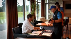 002 - Mens Captain Andrew Corfield on Check-In duty (Neville Wootton Photography) Tags: 2016 2016golfseason andrewcorfield clubchampionships golf kernowcourse mensgolfsection stmelliongolfclub