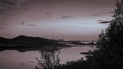 tranquil (SeALighT!) Tags: landschaft landscape suomi finland finnland lapland lappland kilpisjrvi night blackandwhite bw midnightsun river mountain trees