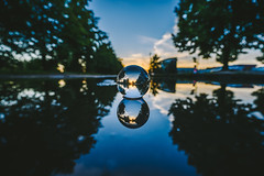 Reflection | GlassBallProject #238/365 (A. Aleksandraviius) Tags: reflection sky blue sunset dark water wide angle colors glassball crystalball glass ball project nikon nikond810 d810 1424mm 1424 nikkor 365days 3652016 2016 365 project365 238365