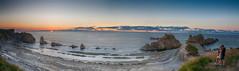 Panorama Arnia beach sunset (Ruben H. Pinilla) Tags: nikon d750 nikond750 tamronsp2470mmf28divcusd rubenhpinilla candid beach sunset color arnia cantabria panorama sea marcantbrico liencres man woman photographer