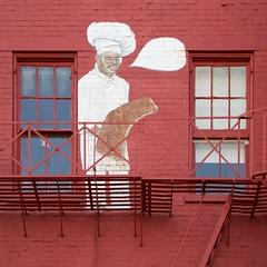 Caption Contest (Travis Estell) Tags: caption captionbubble chef cincinnati mural ohio olliestrolley ribs streetart westend