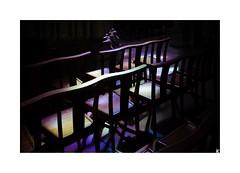 Colored (Isabelle) Tags: eglise chaise couleur vitrail lumire pau pyrnesatlantique aquitaine france