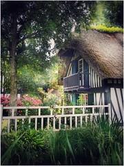 Veules-les-roses (nadègebourdonné) Tags: eau village colombage normandie toit de chaume cours ruisseau veules les roses france normandy house