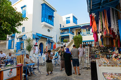 Sidi Bou Said - Tunisia (Mashhour Halawani) Tags: sidibousaid    travel travelblogger africa blue tradition cobble architecture amazing cityscape
