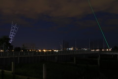 North Greenwich (myabsoluteimage) Tags: gmt laser greenwich london thames gmtline night