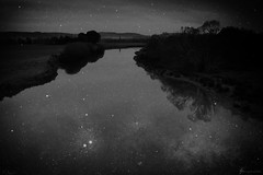 and when it gets dark (birdcloud1) Tags: river night stars taieri dunedin otago newzealandlandscapes newzealand doubleexposure taieririver amandakeogh amandakeoghphotography birdcloud1 canoneos80d eos80d canon1855mmlens 1855mm blackandwhite monochrome mono photoshop notreallynighttime 09112016