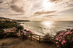 admiring the sea (paolotrapella) Tags: sea sky clouds tropea landscape panorama mare water acqua cielo nuvole
