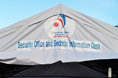No sectarianism here (Roving I) Tags: spelling errors mistakes oops spectators signs tents events tourism abg5 asianbeachgames danang vietnam