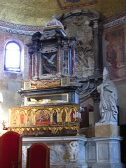 Church of Santa Maria e San Donato in Murano - St Donato (Lacey Jo) Tags: venice italy church santa maria san donato murano remains altar saint