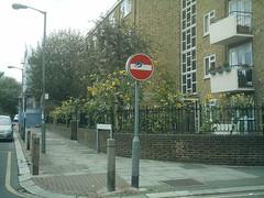 London Street Art (koothenholly) Tags: london cletabraham vicaragecrescent battersea londonstreetart roadsigntransfer