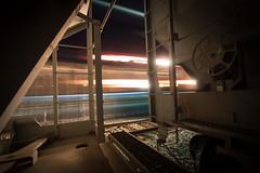 Passing Light (dogslobber) Tags: freight train graffiti trains freights graff spray night moves light painting