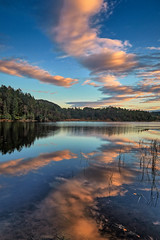 Djupadalen, Norway (Vest der ute) Tags: norway rogaland haugesund waterscape landscape clouds reflections mirror trees djupadalen fav25