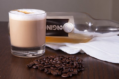 Irish Coffee (Jcareyphoto) Tags: coffee whiskey whisky product coffeebeans productphotography strobist smallproduct