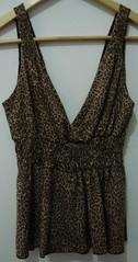 Blusa Oncinha R$35 (Vegas Brechó) Tags: vintage retrô pinup onça estampa anos50 roupas oncinha feminino animalprint decote brecho decotado