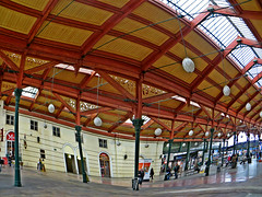 Masaryk train station in Prague, Czech Republic. November 15, 2014 (Aris Jansons) Tags: architecture building interior station railway trainstation prague praha czech česko europe 2014 masaryktrainstation