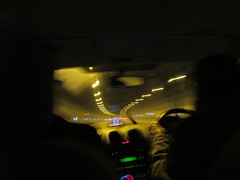 In Bell Common Tunnel IMG_0626 (tomylees) Tags: travelling car night december friday 26th 2014