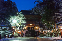 temple in snow (k n u l p) Tags: winter snow japan night temple kyoto sony 京都 鞍馬寺 1670mm nex7 sel1670z