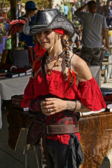 Lady in Red 4x6 JTPI 5843 (JTOcchialini) Tags: park festival lady bronze quiet princess florida weekend chess royal cast bodacious waters celtic mayhem renaissance paladin in 2015 bodices jtpi
