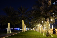QND 2014 (Sanjiban2011) Tags: longexposure nightphotography night lights evening nikon nightscape decoration palm corniche palmtree tamron doha qatar tamron1750 d7100 qatarnationalday qnd2014