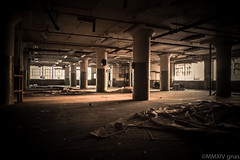 Empty (Just Add Light) Tags: city abandoned broken glass metal sketchy still closed alone factory quiet decay machine rusty machinery forgotten urbanexploration vacant forsaken destroyed crusty abandonment decayed urbex lonley scrapped gnas justaddlight urbexphotography razeorder