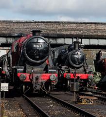 48624 and 46521 (LMSlad) Tags: great central railway loughborough 280 260 mogul 8f ivatt stanier 46521 48624