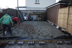 Monday - garage build progress (zombikombi1959) Tags: concrete garage build base groundworks shuttering