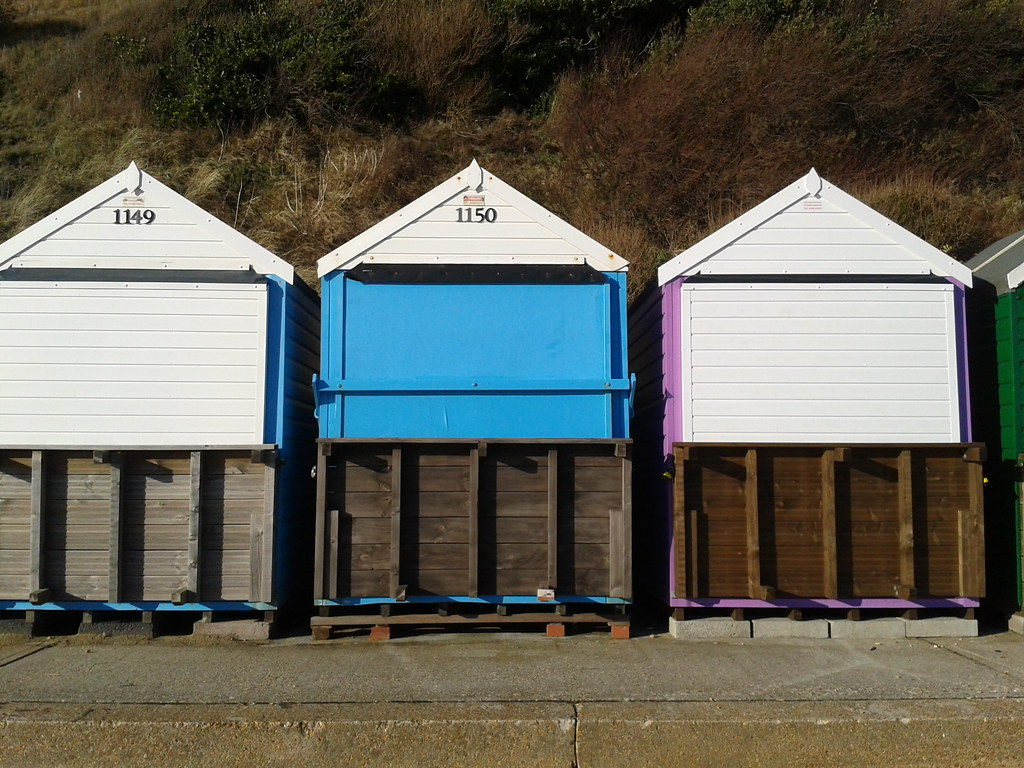 Beach Huts at Southbourne, Bournemouth - Mar 2015